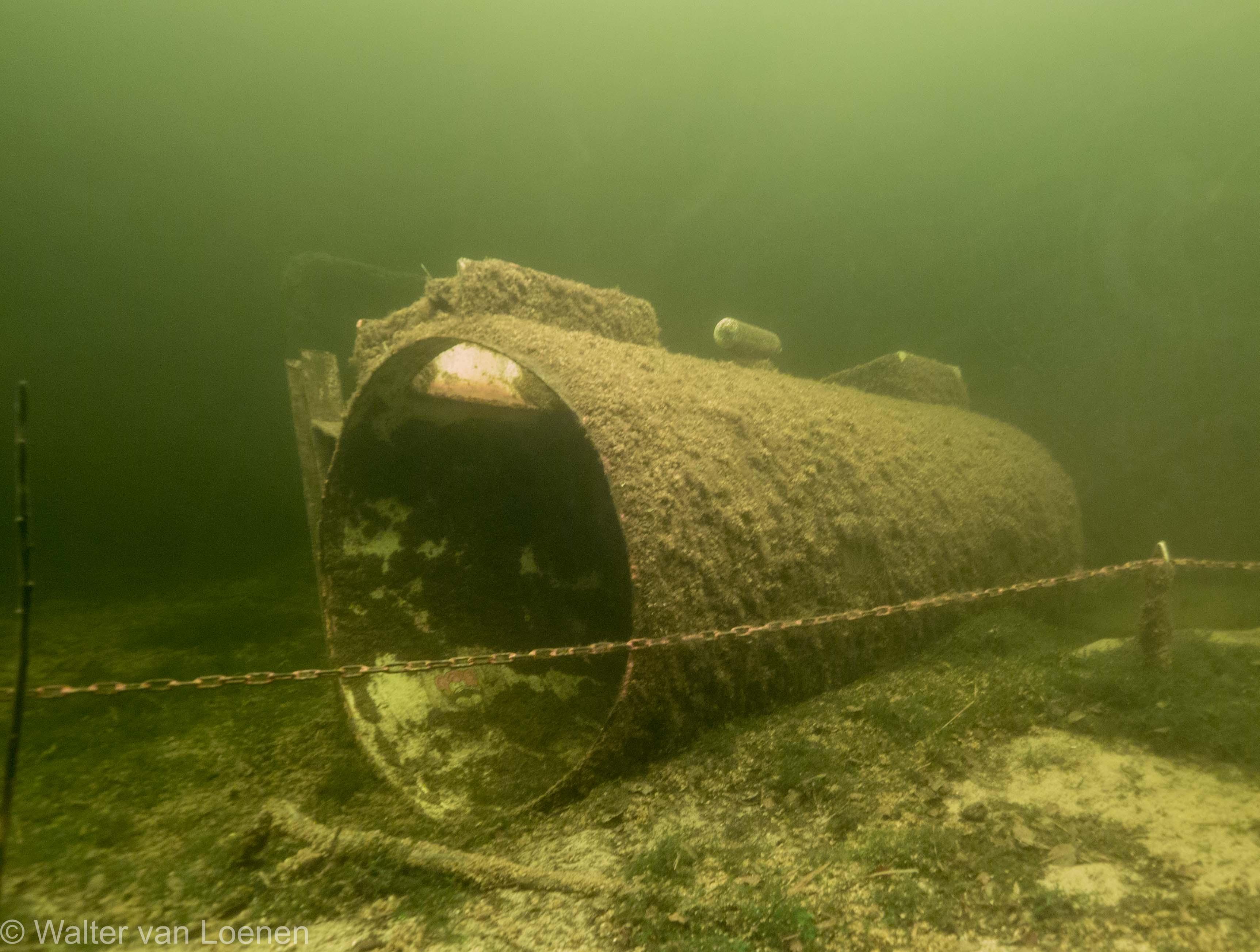 Het oude onderwaterhuis