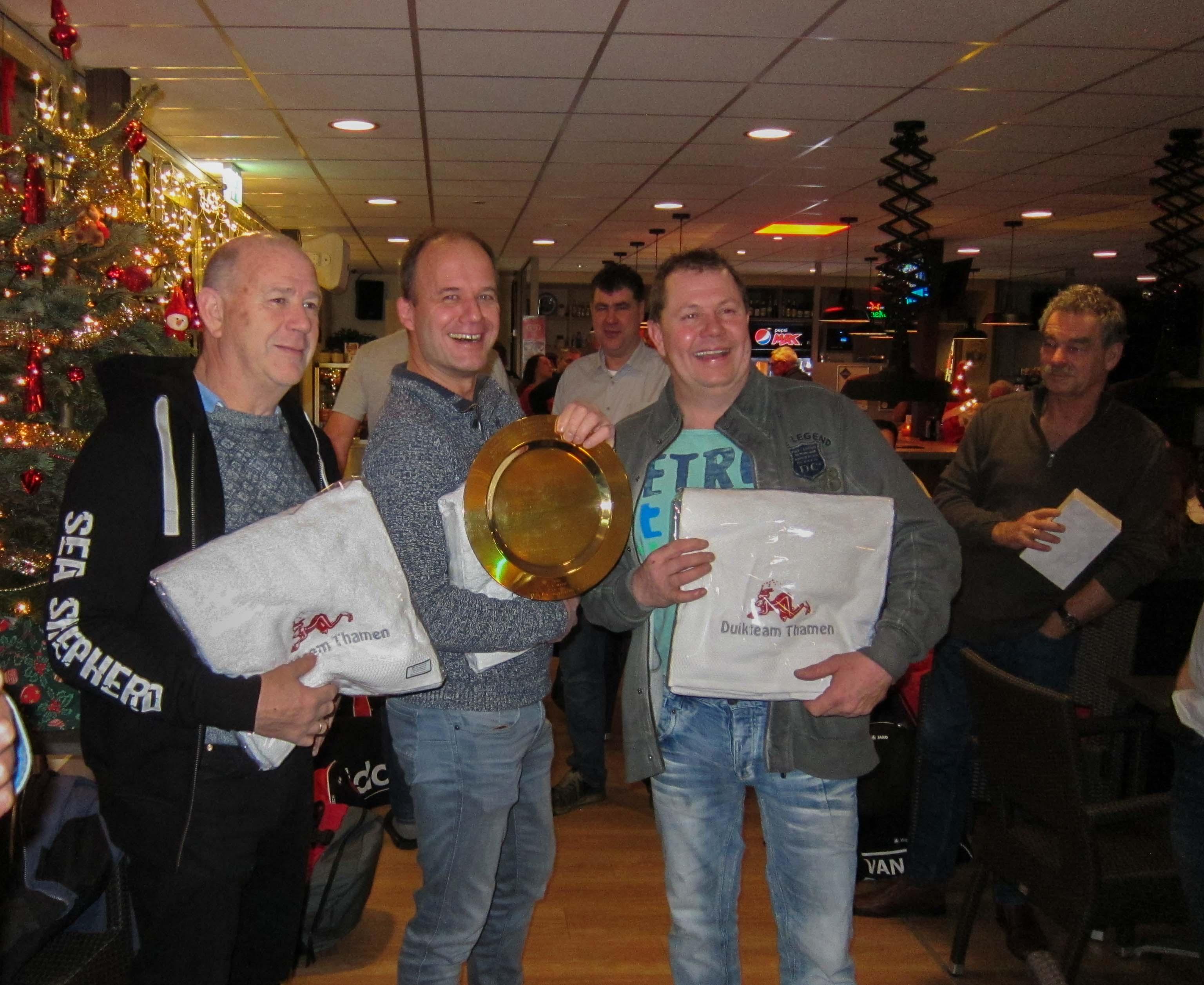 Jan, Ard en Niels, winnaars 2017