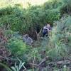 Edwin en Bert aan het tuinieren